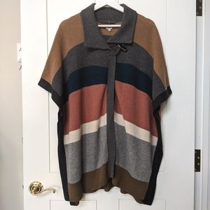 XXS Colour Block Stripe Sweater Cape